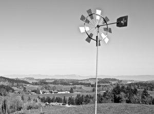 Windrad schwarzweiss