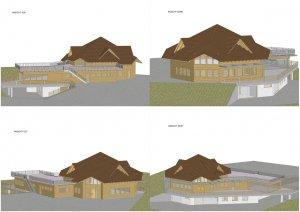 Planansicht des kompletten Bauprojektes