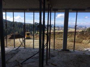 Ausblick Untergeschoss ohne Mauer