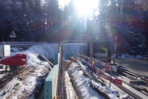 Hier entsteht die Mauer für den Parkplattz Unter- und Überstand